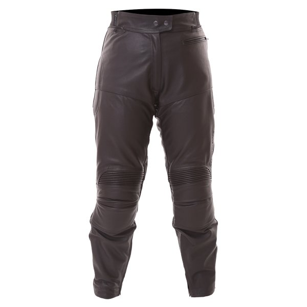 FTL401 Leather Jeans Black Ladies Trousers