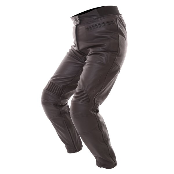 Frank Thomas FTL401 Ladies Black Leather Motorcycle Jeans Riding crouch