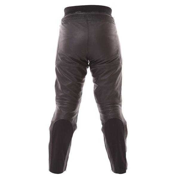 Frank Thomas FTL401 Ladies Black Leather Motorcycle Jeans Rear
