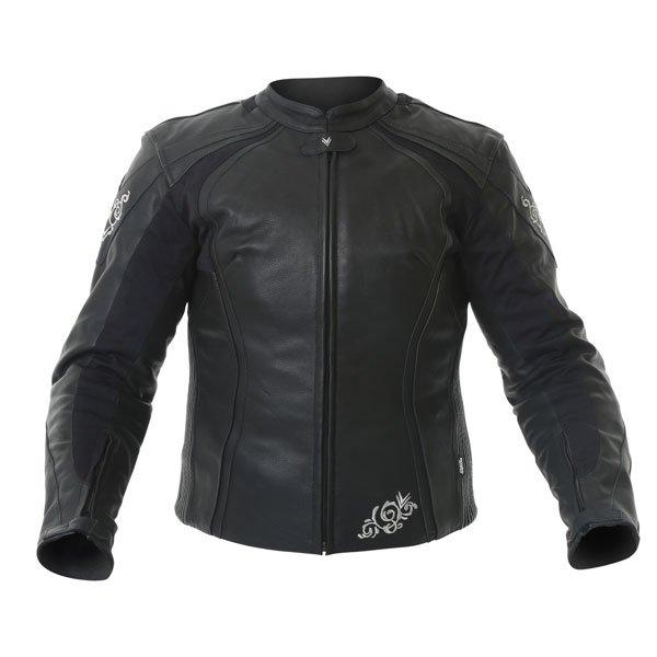 Frank Thomas FTL313 Venus Black Ladies Leather Motorcycle Jacket Front