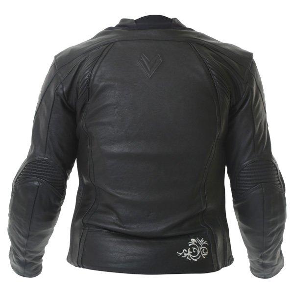 Frank Thomas FTL313 Venus Black Ladies Leather Motorcycle Jacket Back