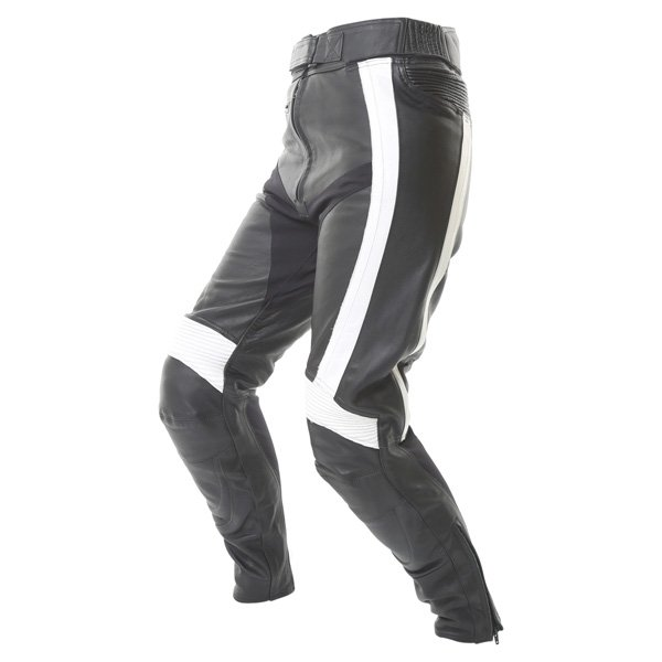Frank Thomas FTL314 Venus Ladies Black White Leather Motorcycle Jeans Riding crouch