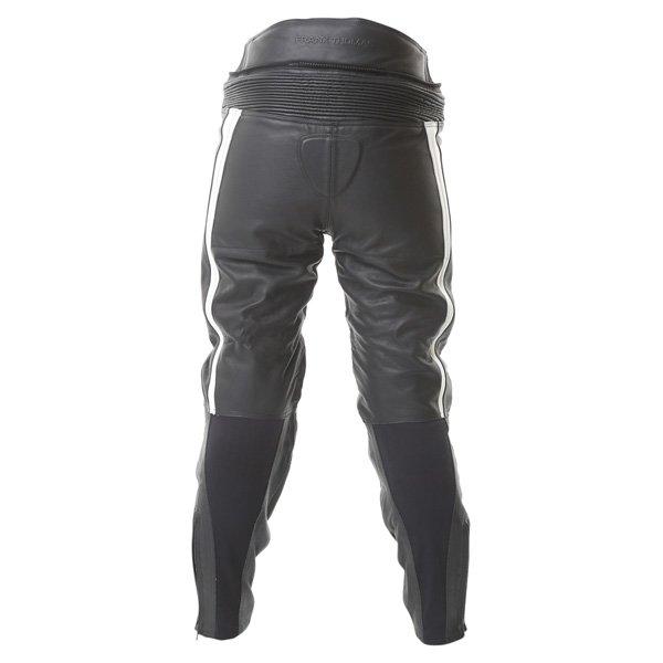 Frank Thomas FTL314 Venus Ladies Black White Leather Motorcycle Jeans Rear