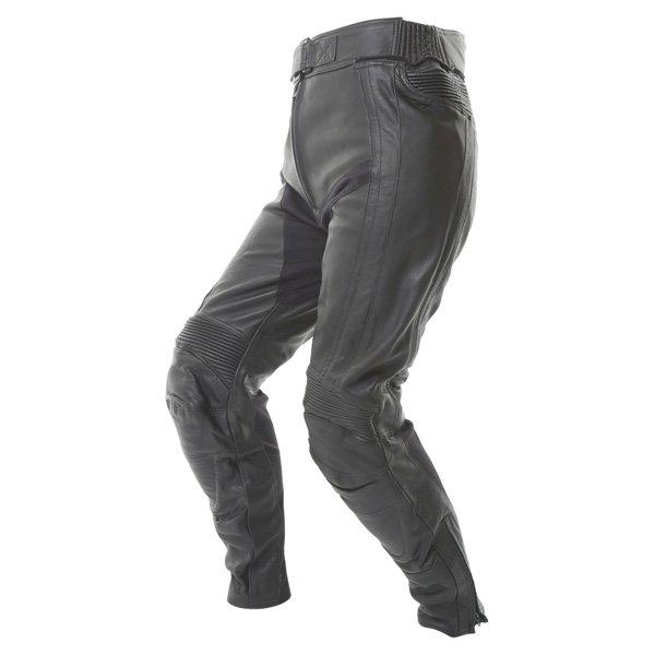 Frank Thomas FTL314 Venus Ladies Black Leather Motorcycle Jeans Riding crouch