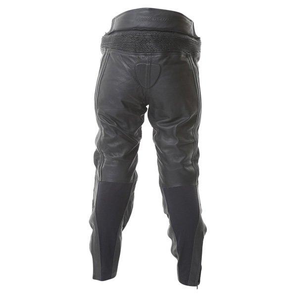 Frank Thomas FTL314 Venus Ladies Black Leather Motorcycle Jeans Rear