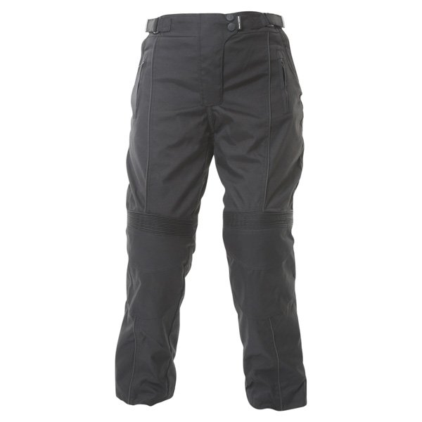 Frank Thomas FTW334 Lady Rider Ladies Black Textile Motorcycle Trousers Front