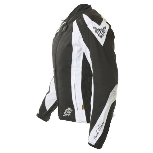 Frank Thomas FTW343 Venus Sport Ladies Black White Textile Motorcycle Jacket Side