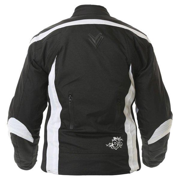Frank Thomas FTW343 Venus Sport Ladies Black White Textile Motorcycle Jacket Back
