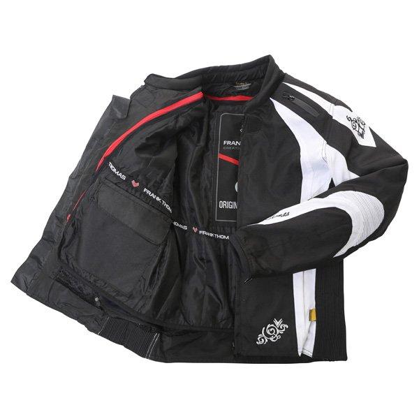 Frank Thomas FTW343 Venus Sport Ladies Black White Textile Motorcycle Jacket Inside