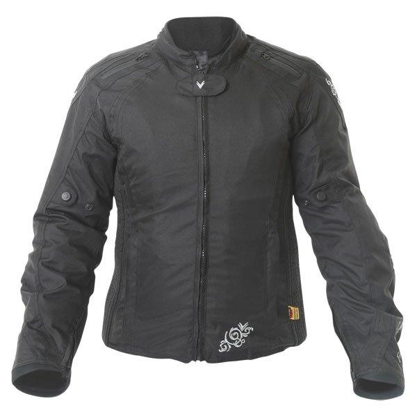 Frank Thomas FTW343 Venus Sport Ladies Black Textile Motorcycle Jacket Front