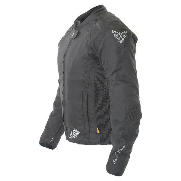 Frank Thomas FTW343 Venus Sport Ladies Black Textile Motorcycle Jacket Side