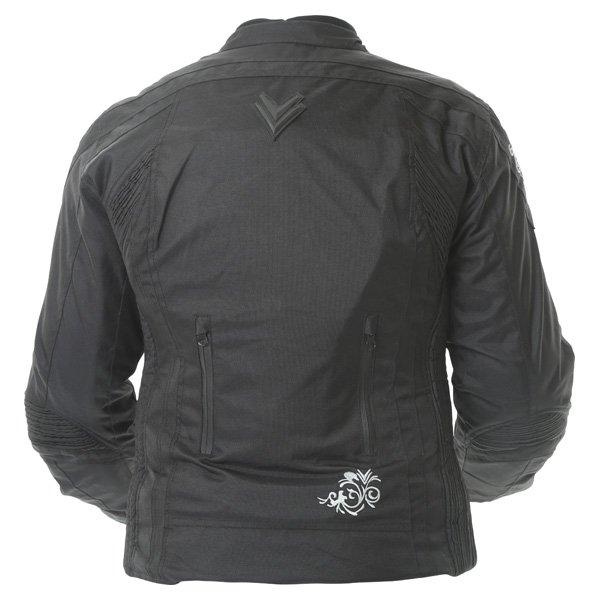 Frank Thomas FTW343 Venus Sport Ladies Black Textile Motorcycle Jacket Back