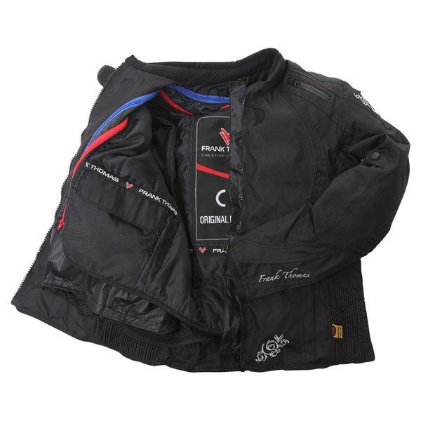 Frank Thomas FTW343 Venus Sport Ladies Black Textile Motorcycle Jacket Inside