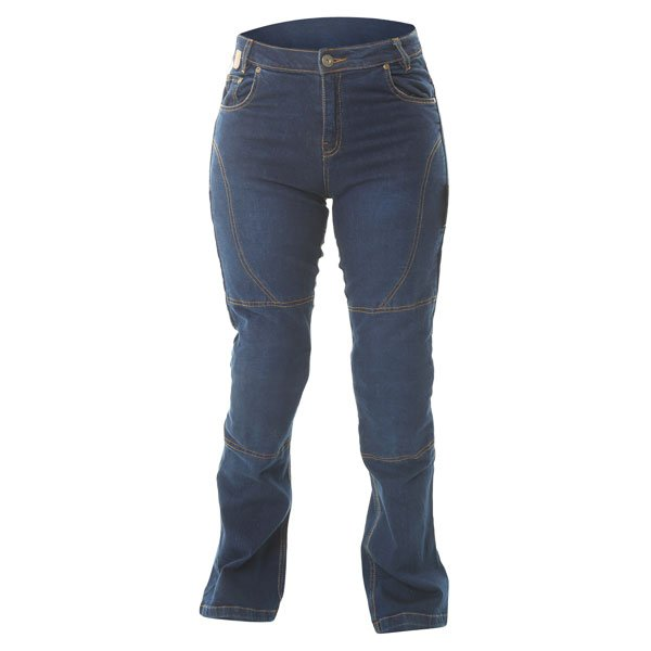 010 Boot Cut Jeans Blue Red Route Ladies