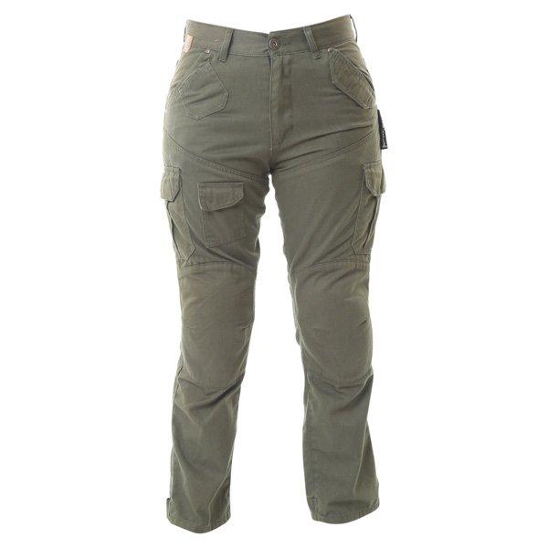 007 Cargo Jeans Khaki Red Route Ladies