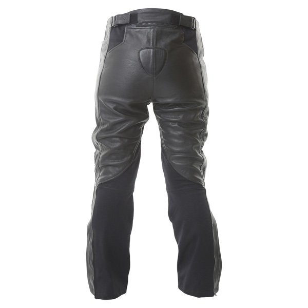 Frank Thomas FTL323 Elegance Ladies Black White Leather Motorcycle Jeans Rear