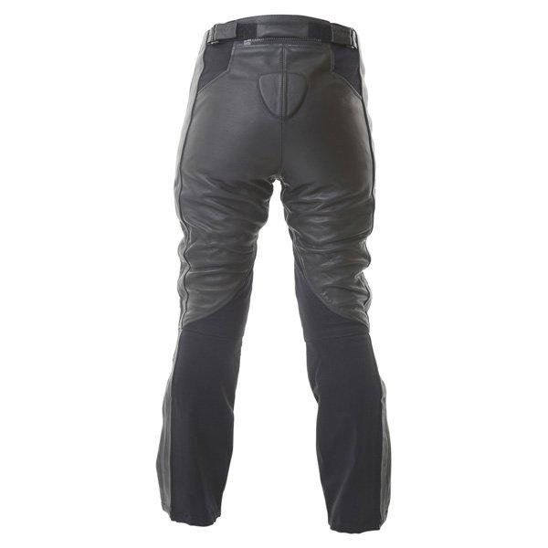 Frank Thomas FTL323 Elegance Ladies Black Gold Leather Motorcycle Jeans Rear