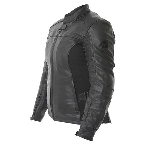 BKS Chelsea Black Ladies Leather Motorcycle Jacket Side