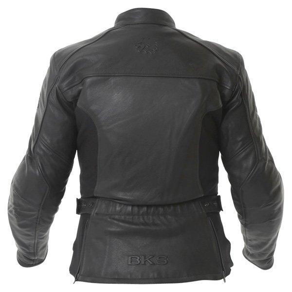BKS Chelsea Black Ladies Leather Motorcycle Jacket Back