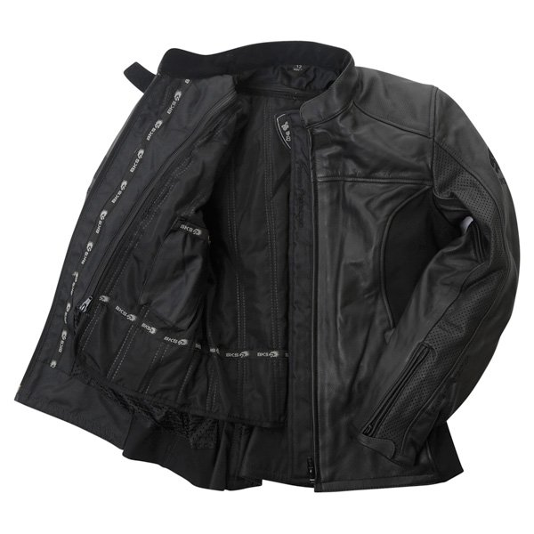 BKS Chelsea Black Ladies Leather Motorcycle Jacket Inside