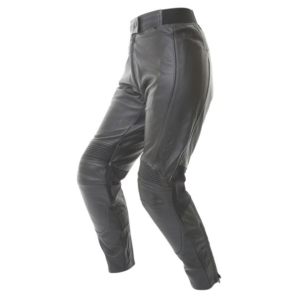 BKS Chelsea Ladies Black Leather Motorcycle Jeans Riding crouch