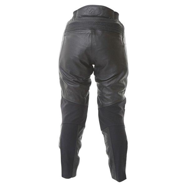 BKS Chelsea Ladies Black Leather Motorcycle Jeans Rear