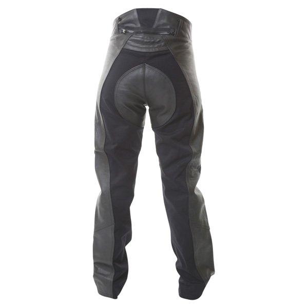 BKS Alex Rica Ladies Black Leather Motorcycle Jeans Rear