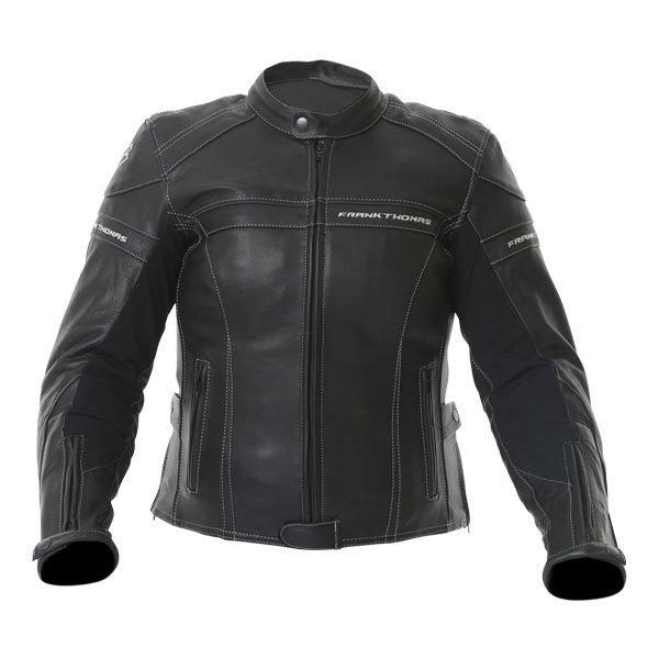 Frank Thomas Camero Black Ladies Leather Motorcycle Jacket Front