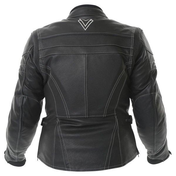 Frank Thomas Camero Black Ladies Leather Motorcycle Jacket Back