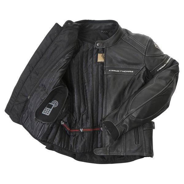 Frank Thomas Camero Black Ladies Leather Motorcycle Jacket Inside