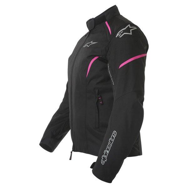 Alpinestars Gunner Ladies Black Pink Waterproof Textile Motorcycle Jacket Side