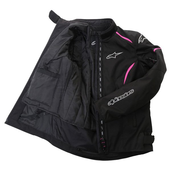 Alpinestars Gunner Ladies Black Pink Waterproof Textile Motorcycle Jacket Inside