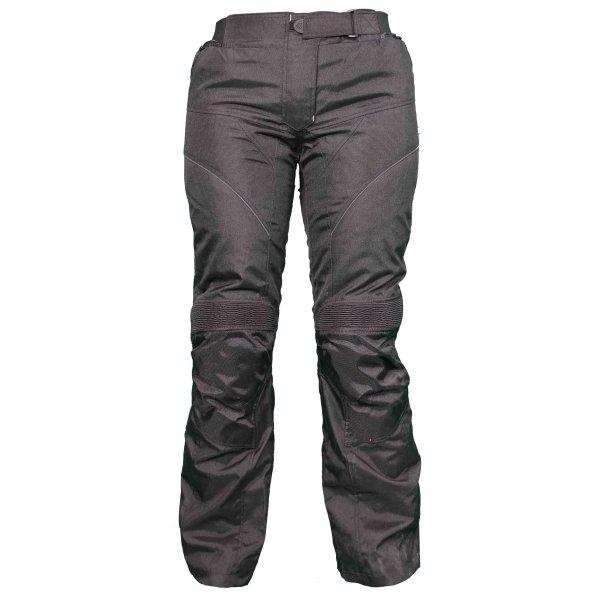 Frank Thomas FTW803 Lunar Ladies Black Textile Motorcycle Pants Front