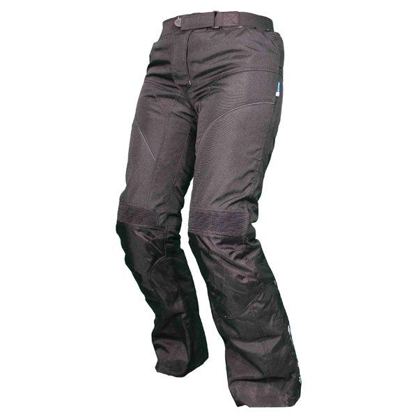 Frank Thomas FTW803 Lunar Ladies Black Textile Motorcycle Pants Riding position