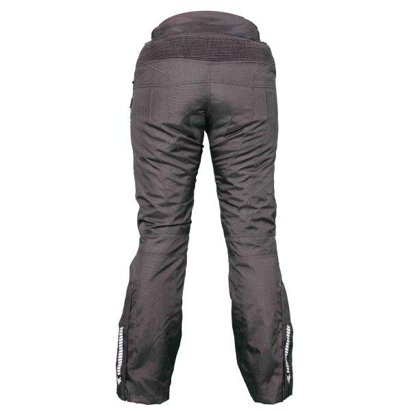 Frank Thomas FTW803 Lunar Ladies Black Textile Motorcycle Pants Rear