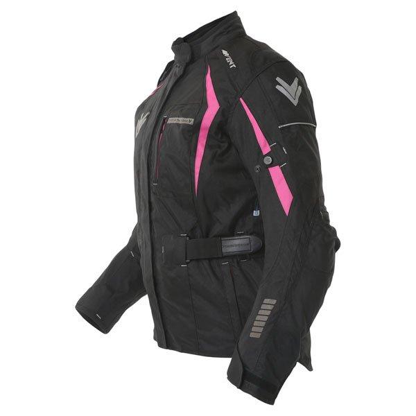 Frank Thomas FTW706 Comet Ladies Black Pink Textile Motorcycle Jacket Side