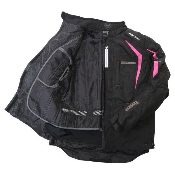 Frank Thomas FTW706 Comet Ladies Black Pink Textile Motorcycle Jacket Inside