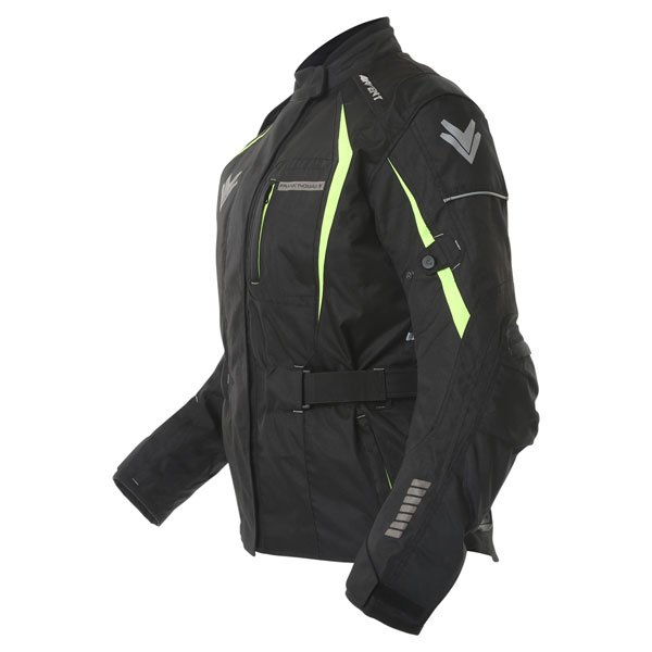 Frank Thomas FTW706 Comet Ladies Black Fluo Yellow Textile Motorcycle Jacket Side