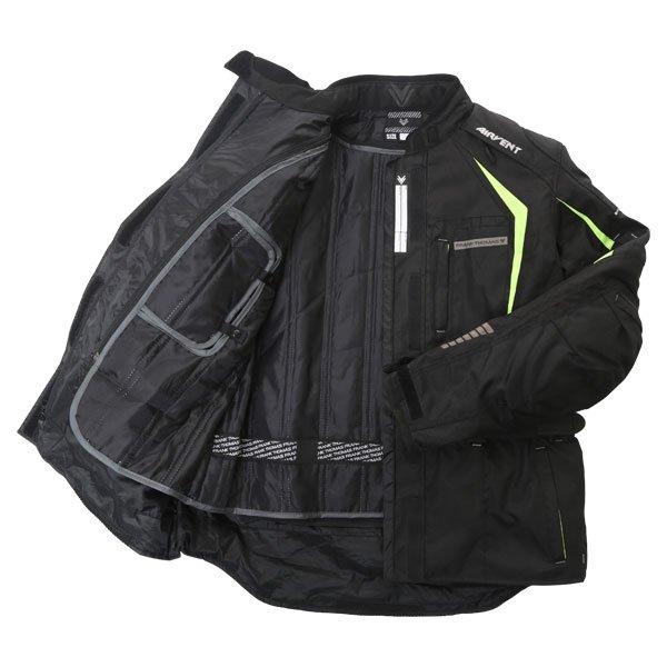 Frank Thomas FTW706 Comet Ladies Black Fluo Yellow Textile Motorcycle Jacket Inside
