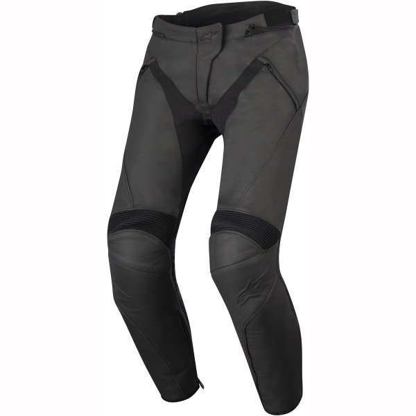 Alpinestars Stella Jagg Ladies Black Leather Motorcycle Jeans Front