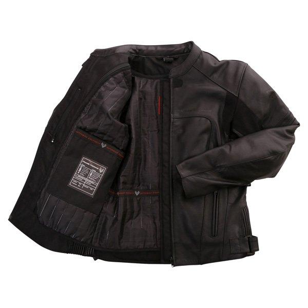 Frank Thomas FTL500 Fusion Sports Black Leather Motorcycle Jacket Inside