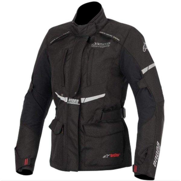 Alpinestars Stella Andes Drystar Ladies Black Textile Motorcycle Jacket Front
