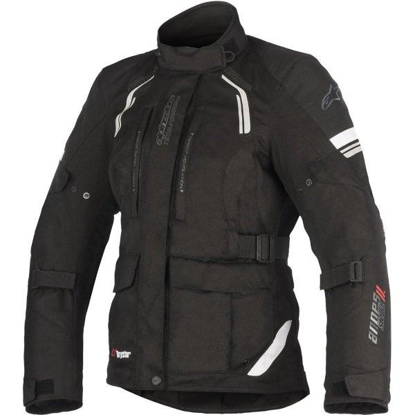 Alpinestars Stella Andes V2 Drystar Black Waterproof Textile Motorcycle Jacket Front