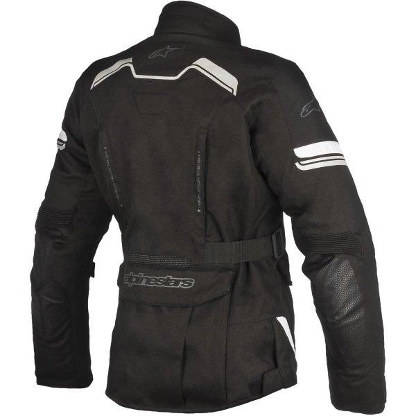 Alpinestars Stella Andes V2 Drystar Black Waterproof Textile Motorcycle Jacket Back