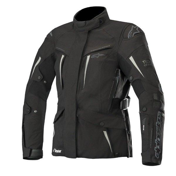 Alpinestars Stella Yaguara Drystar Ladies Black Anthractice Waterproof Motorcycle Jacket Front