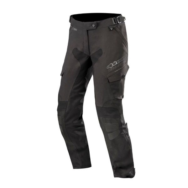 Alpinestars Stella Yaguara Drystar Ladies Black Anthractice Waterproof Textile Motorcycle Pants Front