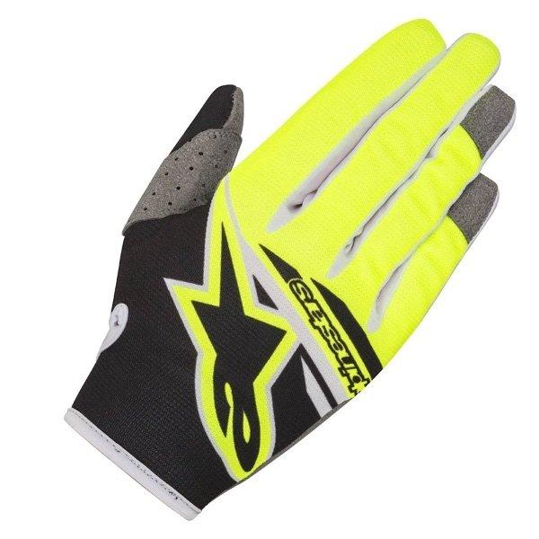 Alpinestars Radar Youth Flight Kids MX Black Fluo Yellow Gloves Back