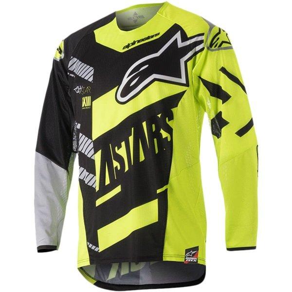 Alpinestars Racer Youth Screamer Black Fluo Yellow Grey Motocross Jersey 1511 Front