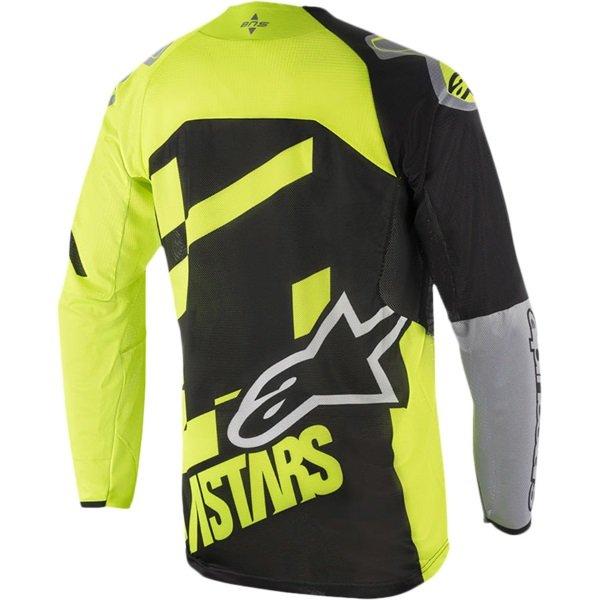 Alpinestars Racer Youth Screamer Black Fluo Yellow Grey Motocross Jersey 1511 Back