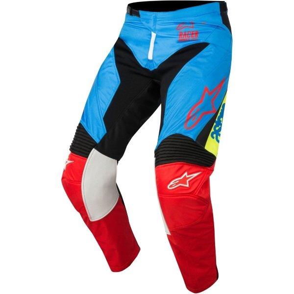 Alpinestars Racer Youth Supermatic Kids Aqua Black Red Motocross Pants 7113 Front